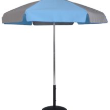 Sunbrella® 6.5 Ft Pop-Up Steel Rib Patio Umbrella - With Push Button Tilt