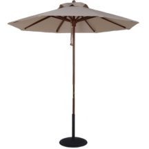 Sunbrella 9 ft. Wood Market Umbrella