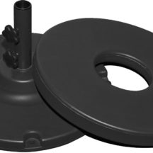 70 lb. Black Plastic Concrete Filled Base